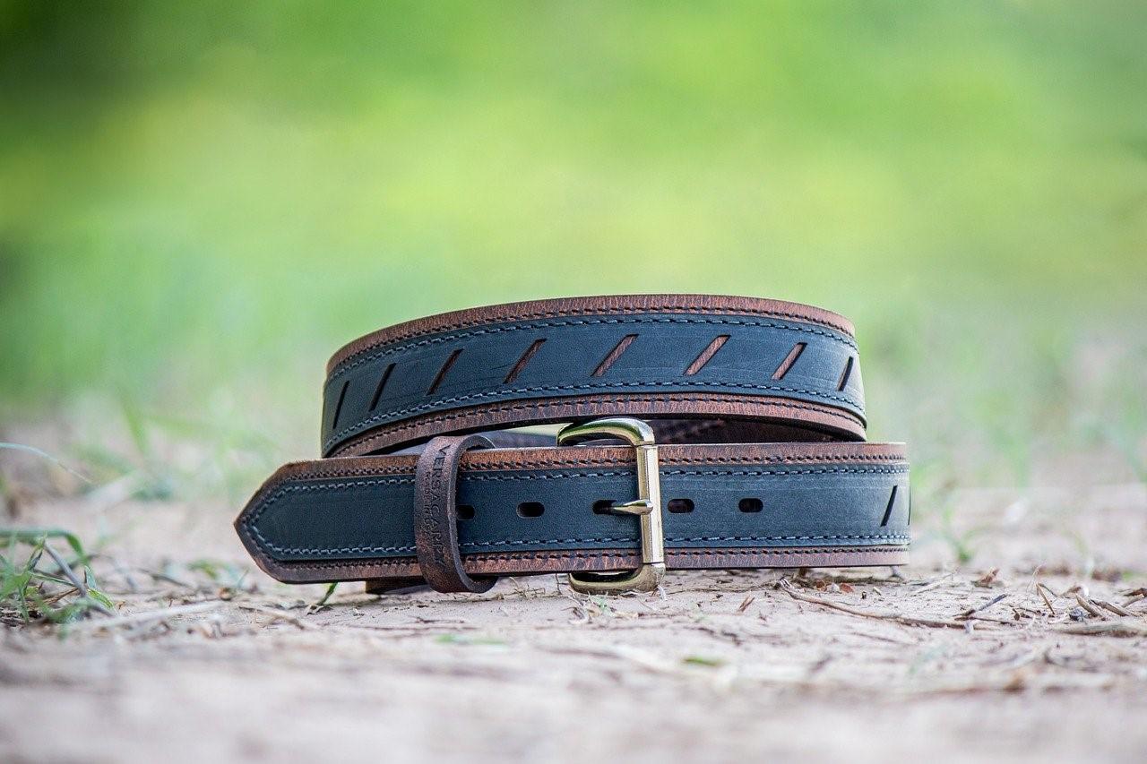 black leather belts for men