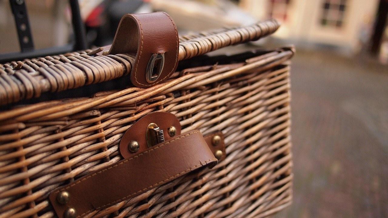 wooden storage baskets